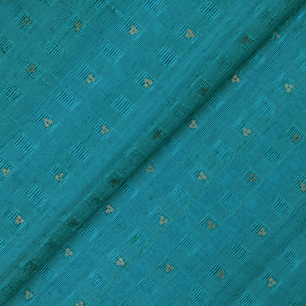 Blue Bailu Silk Fabric