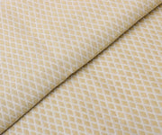 Ivory With Gold Crepe Tussar Fabric