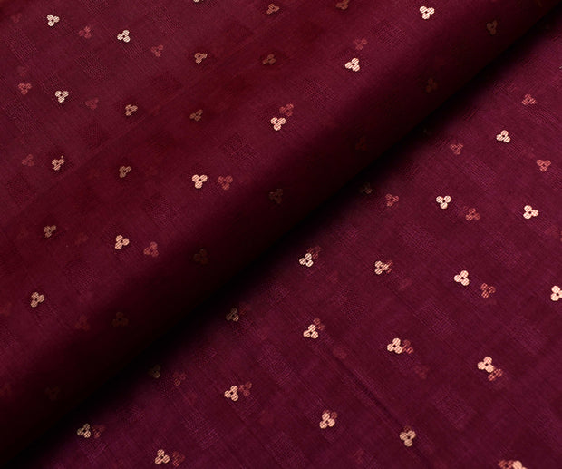 Wine Bailu Silk Fabric