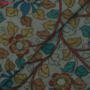 Grey Pen Kalamkari Fabric