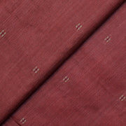 Brown Tussar Fabric With Thread Zari Butta Design