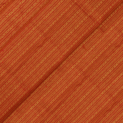 Red Neli And Striped Grand Zari Kanchi Silk Fabric