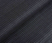 Black Tussar Fabric with Self Checks
