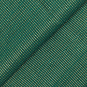 Dark Peacock Green Zari Kattam Tussar Fabric
