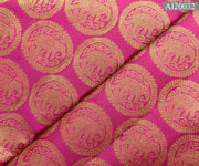 Rose Kanchi Silk Fabric Elephant Chakra Highlights