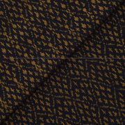 Black Zigzag Ikkat Silk Fabric