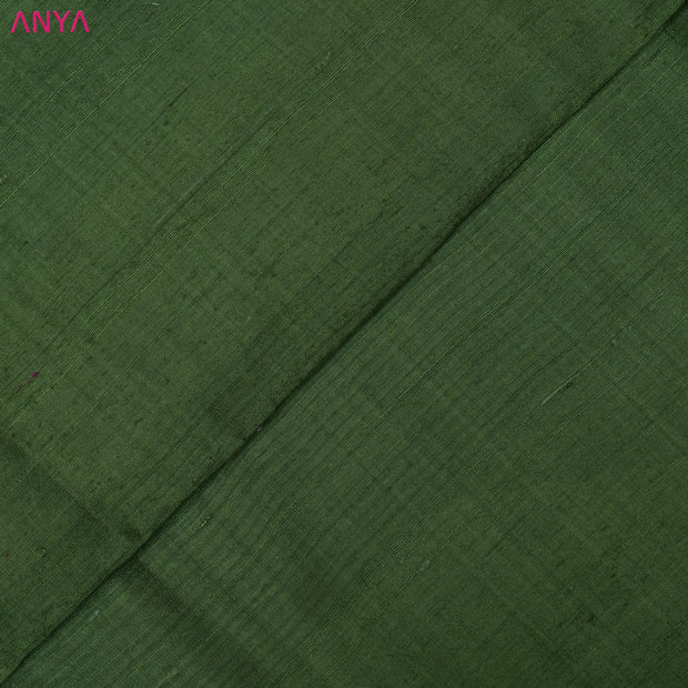Olive Green Tussar Silk Fabric