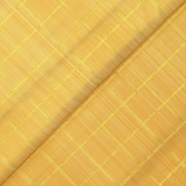 Butter Milk Zari Kattam Kanchi Silk Fabric