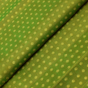 Avacado Green Kamalam Button Kanchi Silk Fabric