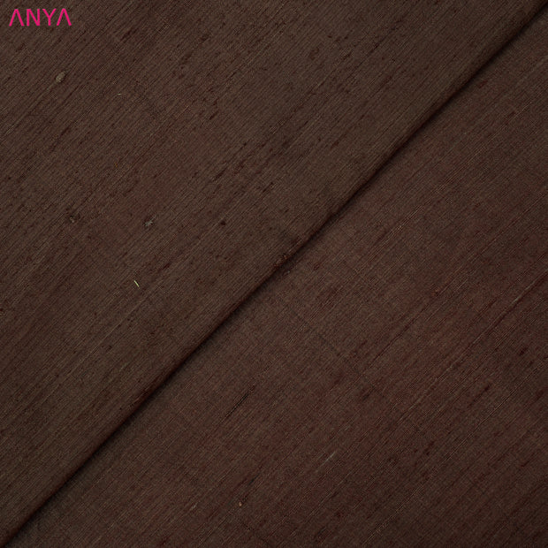 Brown Raw Silk Fabric
