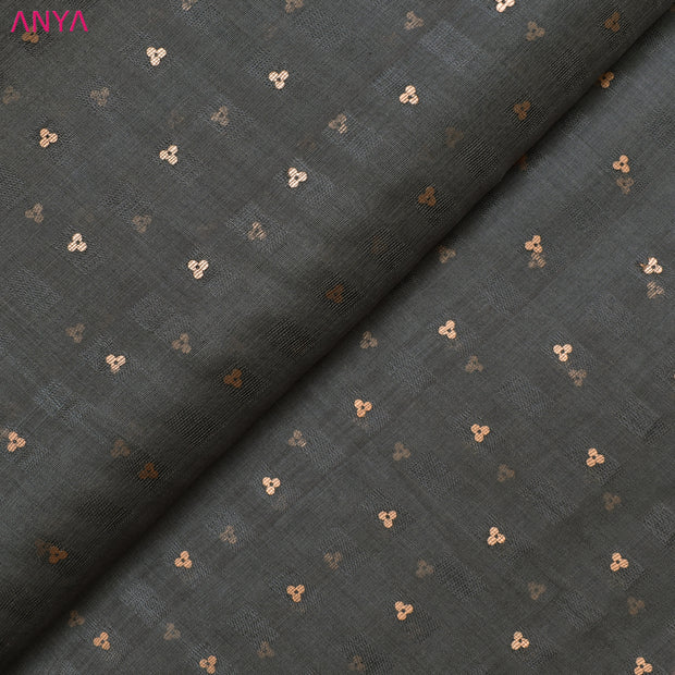 Grey Bailu Silk Fabric