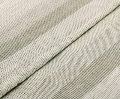 White And Grey Tussar Fabric With Stripes