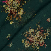 Bottle Green Organza Silk Fabric