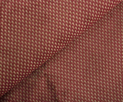 Brown Semi Banarasi Fabric with Self Design