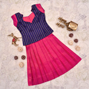 Purple Top With Peach Skirt