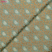 Pastel Blue Banarasi Silk Fabric
