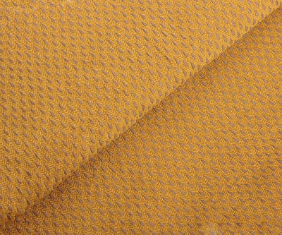 Mustard Semi Banarasi Fabric with Self Design