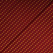 Maroon Zari Button Kanchi Silk Fabric