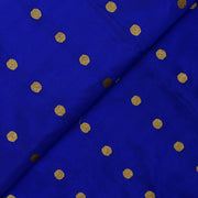 Ink Blue Rudraksham Zari Button Soft Banarasi Silk Fabric
