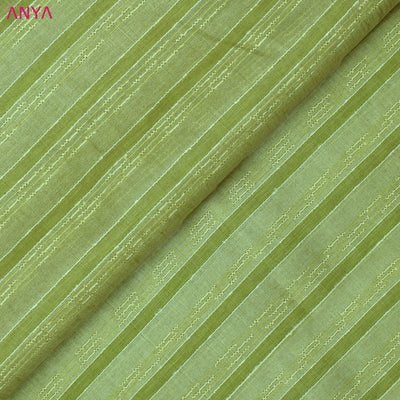 Apple Green Tussar Silk Fabric