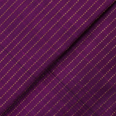 Purple Muthuseer Line Kanchi Silk Fabric