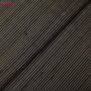 Black Tussar Silk Fabric