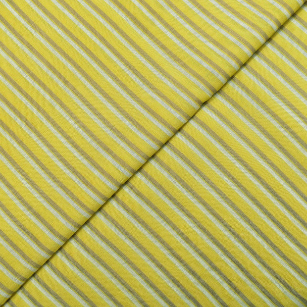 Yellow Maheswari Silk Fabric