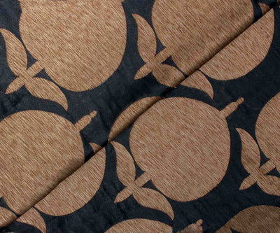 Black Color Antique Banarasi Silk Fabric