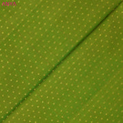 Avocado Green Kuligai Button Kanchi Silk Fabric