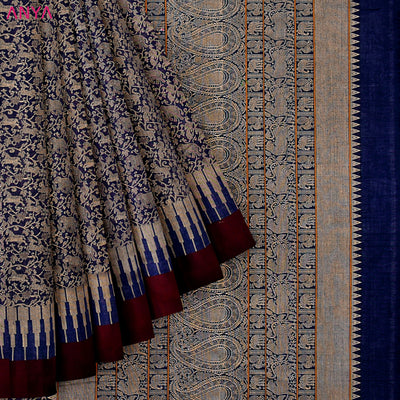 Indigo Blue Kanchi Cotton Saree