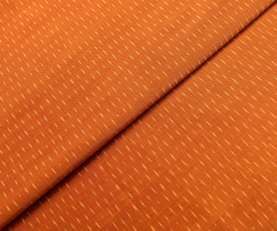 Orange Ikkat Silk Fabric