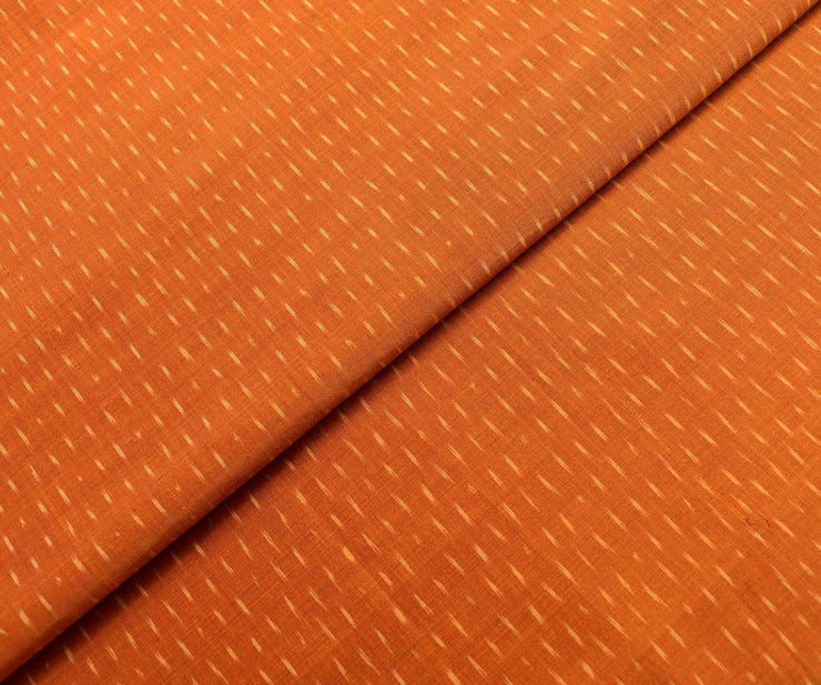 Orange Ikkath Silk Fabric