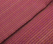 Purple Kanchi Silk Fabric with Stripes Zari Design