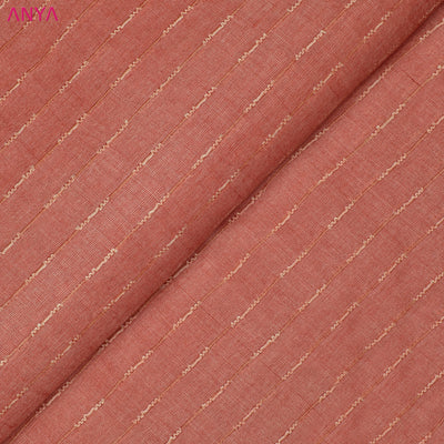 Peach Tussar Silk Fabric