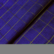 Ink Blue Zari Kattam Tussar Raw Silk Fabric