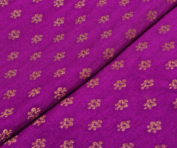 Purple Georgette Banarasi Fabric