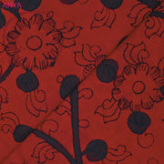 Burnt Orange Pen Kalamkari Fabric