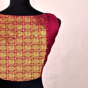 Red Kanchi Silk Ready Made Blouse