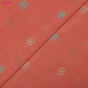 Coral Pink Cotton Fabric