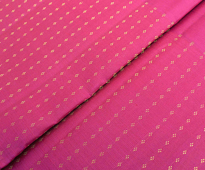 Rose Kanchi Silk Fabric With Zari Highlights