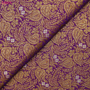 Purple Banarasi Silk Fabric