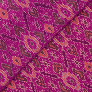 Rose Ikkat Silk Fabric