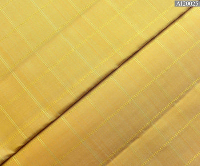 Sandal Kanchi Silk Fabric With Zari Kattam Design