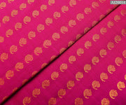 Rose Kanchi Silk Fabric With Zari Mango Button Design Highlights