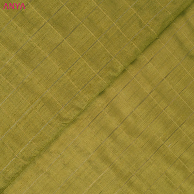 Gold Checked Tussar Fabric