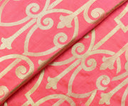 Light Pink Banarasi Silk Fabric With Gold Zari Design Highlights