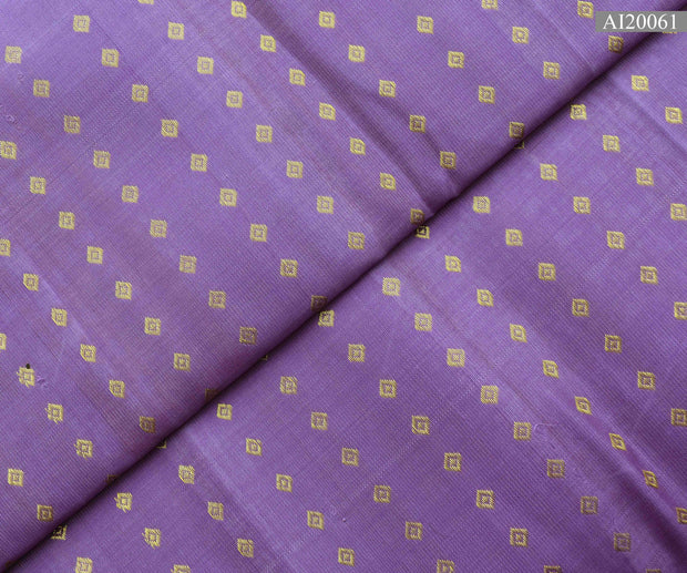 Dark Orchid Diamond Button Kanchi Silk Fabric