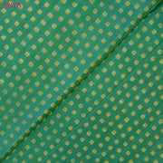 Dual Tone Green And Turquoise Blue Kanchi Silk Fabric With Floral Design