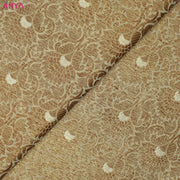 Half White Banarasi Silk Fabric