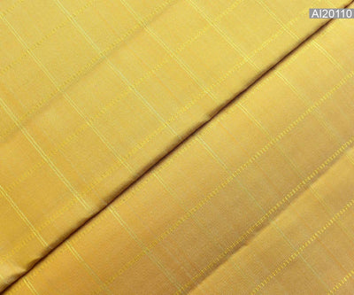 Buttermilk Kanchi Silk Fabric With Kattam Design